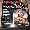 Iron Maiden dart board set including cabinet.
