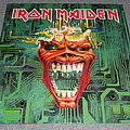 """Iron Maiden - Tape / Vinyl / CD / Recording etc - Iron Maiden Virus 12"""" single in poster bag signed by band."""