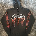 "Obituary ""Blood Soaked"" zip hoodie Hooded Top"