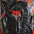 judas priest handpainted studded biker vest defenders of the faith Battle Jacket