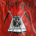 Midnight complete and total midnight handpainted leather jacket