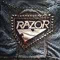 Razor - Battle Jacket - my full diy Razor denim leather studded jacket
