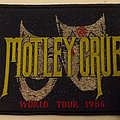 Motley Crue - 1986 world tour with Theatre Of Pain artwork embroidered cloth patch