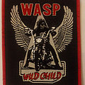 WASP - Wild Child embroidered cloth patch