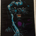 black panther embroidered cloth patch