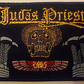 Judas Priest - band logo with skull embroidered cloth patch