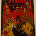 Manowar - Triumph Of Steel embroidered cloth patch