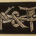 Y & T - band logo embroidered cloth strip patch
