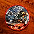 JUDAS PRIEST - PAINKILLER Woven Patch with red Border