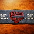 SAXON - Denim and Leather Backstripe Patch