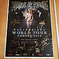 Cradle Of Filth - Other Collectable - Full signed promo tour poster 2018