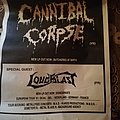 Cannibal corpse - loudblast tour poster 1991