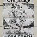 Cro-mags - Other Collectable - Cro Mags - tour poster age of quarrel with Rumble militia