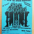 Cryptic slaughter - Lp flyer