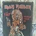 Iron Maiden - Patch - Iron Maiden - Killer world tour 81 patch