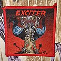 Exciter - Patch - Exciter - Long live the loud (red border)