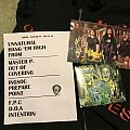 Havok setlist pick and poster card