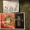 Havok setlist and poster and signed drumhead