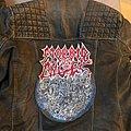 Leather Biker Jacket / Morbid Angel Backpatch