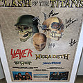 Megadeth - Other Collectable - 1990 Clash Of The Titans Tour Poster! Signed by Megadeth!