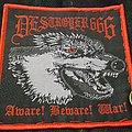 Deströyer 666 - Patch - Deströyer 666 - Aware! Beware! War! Woven Patch