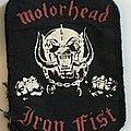 Motörhead Iron Fist Vintage patch