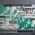INTEGRITY - RINGWORM - LIAR - RANCOR hardcore festival promo poster 1995
