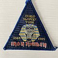 Iron Maiden - Patch - World Slavery Tour triangle patch