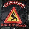 "Gehennah - Patch - Gehennah ""King of the sidewalk"" patch"