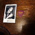 Autographed Polaroid and guitar pick  Other Collectable