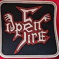 OPEN FIRE - Patch - OPEN FIRE old 80's rubber patch