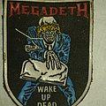 Megadeth - Patch - MEGADETH Wake Up Dead old rubber stripe