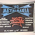 King Diamond - Patch - METALMANIA '90 old rubber patch