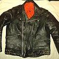 Old leather jacket