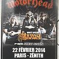 Motörhead 22 Février 2014 Paris - Zénith Poster Other Collectable