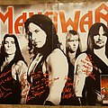 Manowar - Other Collectable - Manowar - Warriors Of The World Signed Poster