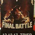 Manowar Final Battle Tour Ticket