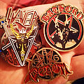 Bathory - Pin / Badge - Bathory, Slayer & Venom Coloured Metal Pins