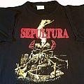 Sepultura Arise New Titans On The Block tour short sleeve (L) black. Printed on Blue Grape. 1991 TShirt or Longsleeve