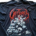 Obituary - TShirt or Longsleeve - Obituary Pile of Skulls short sleeve (L) black. Blue Grape 1992