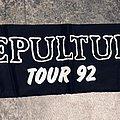 Sepultura Tour scarf 1992