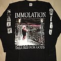 Immolation - Failures for Gods European tour 1999  TShirt or Longsleeve