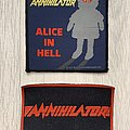 Annihilator / Alice In Hell and rubber logo patches