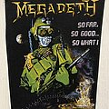 Megadeth - Patch - Megadeth / So Far, So Good...So What! - Back patch