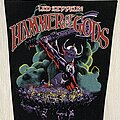 Led Zeppelin - Patch - Led Zeppelin/ Hammer of the Goods - 1988 backpatch