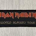 Iron Maiden - Patch - Iron Maiden / World Slavery Tour - strip patch