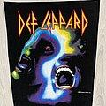 Def Leppard - Patch - Def Leppard / Hysteria Faces - 1987 Bludgeon Ltd back patch