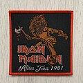 Iron Maiden - Patch - Iron Maiden / Killer Tour 1981 - Bootleg patch