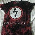 Marilyn Manson Red/Black Acid Wash Shockbolt Tee Size S