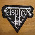 Asphyx - Patch - Asphyx shaped logo patch